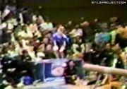 Olympic Gymnastic Balance Beam Flip Landing Fail