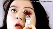 Asian Chick Cuts Out & Eats Her Own Eyeball