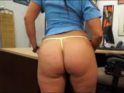Latina police officer gets her pussy fucked by pawn man