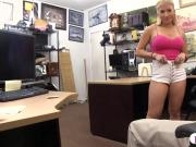 Busty stripper banged by horny pawn guy at the pawnshop