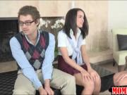 Mature Prof Ava Addams amazing threesome with teen students