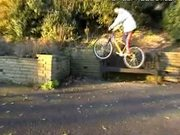 Bicycle Tire Jump Epic Fail Faceplant