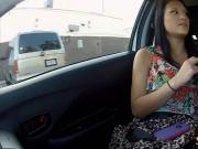 Amateur black haired teen drilled in gasoline station
