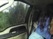 Ghetto chick Diamond Monroe hitchhikes and banged in public