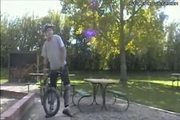 Biker Wheelie Jump Stunt Fail