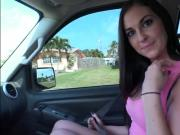 Lovely hitchhiking teen Brittany Shae banged in the car