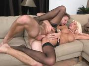 MILF Kasey Takes A Huge Load From Young Stud