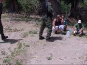 Border patrol agent fucked tight brunette sneaky stripper
