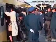 Crazy Japan train packers!