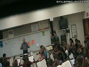 music teacher freaks out and smashes students violin