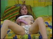 Petra tries her new dildo