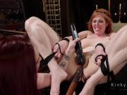 Huge tits slave got ass whipped