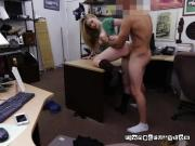 Busty Babe Gets Fucked And Creamed By Pawnbroker