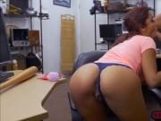 Pretty Mia Martinez sucks a big cock in the pawnshop