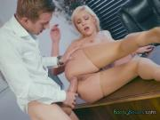 Chick Kylie Page Gets Fucked And Facialized By The New Boss