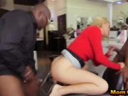 Superb MILF whore got her pussy and ass slammed hard by two big black cocks