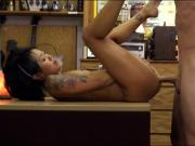 Cute Asian babe sells her massage table and gets pounded