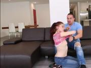 Horny redheaded teen Kandi Quinn takes a pounding