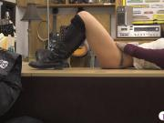 Amateur woman railed by nasty pawn dude at the pawnshop