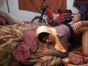 Natural Arab young wife reached orgasm by sexy doggy fucked
