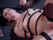 Strapped cutie ass whipped and anal fucked