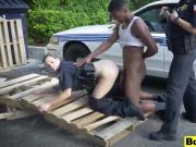 Lady police sex dominating arrested black cock dude