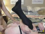 White Masked Chick is getting a Hard Fuck