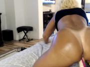 Black babe getting multiple orgasms