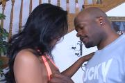 Sexy Awesome-Titted Ebony Whore Loves Pole Riding