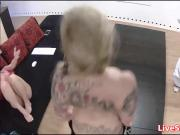 Costumed slut Stripping down over everyone