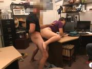 Couple bitches try to steal and fucked by pawn keeper