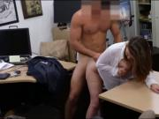 Business Woman pawns her twat and fucked by pawn dude
