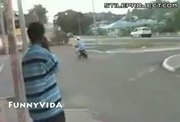 Moped Show Off Fail