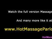 Stunning cock jerking masseuse