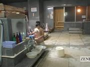 Subtitle ENF CMNF Japanese busty milf full body bathing