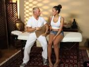 Huge boobs babe Serena Ali massaged and nailed by masseur