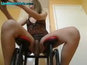 Hot Teen Webcam Slut Rides Dildo Chair