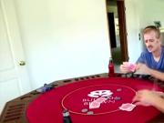 Pervs wins a brunette hotties pussy in poker match