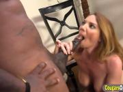 Horny Cougar Gets Banged By Two Horny Black Studs Wearing Some Sexy Outfit