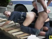 Two busty cops pounded by black dude