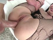 Naughty tattooed babe loves hard ass pounding in any position