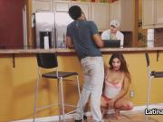 Sneaky cheating by Latina gf with BBC