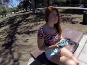 Redheaded teen cock suck