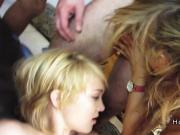 College babes fucking huge cocks at party