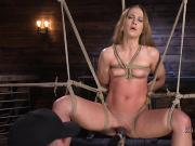 Blonde in ropes pussy tormented