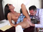 August Ames loves showing off her perfect tits to dea