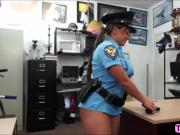 Naughty Police officer gets paid to suck and gets fucked