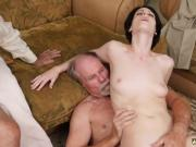 Mature old skinny xxx Frannkie goes down the Hersey highway