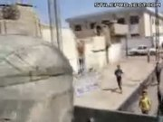 Thirsty Kid Chases Military Vehicle For Bottled Water