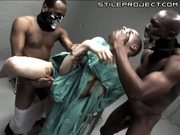 a bald belladonna gets fucked by two thick brothers in all her holes